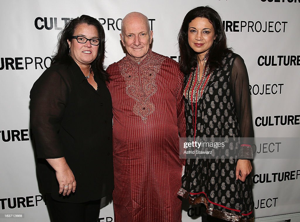 <a gi-track='captionPersonalityLinkClicked' href=/galleries/search?phrase=Rosie+O%27Donnell&family=editorial&specificpeople=201730 ng-click='$event.stopPropagation()'>Rosie O'Donnell</a>, Allan Buchman and Anna Khaja attend 'Shaheed: The Dream And Death Of Benazir Bhutto' Off Broadway Opening Night at Culture Project on March 14, 2013 in New York City.