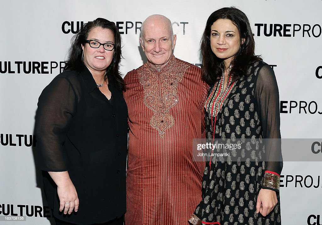 <a gi-track='captionPersonalityLinkClicked' href=/galleries/search?phrase=Rosie+O%27Donnell&family=editorial&specificpeople=201730 ng-click='$event.stopPropagation()'>Rosie O'Donnell</a>, Allan Buchman and Anna Khaja attend the 'Shaheed: The Dream And Death Of Benazir Bhutto' Off-Broadway Opening Night at Culture Project on March 14, 2013 in New York City.