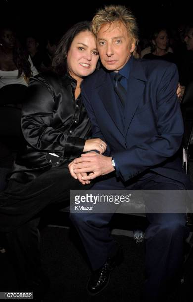 Rosie O'Donnell and Barry Manilow during Barbra Streisand in Concert at the Staples Center Backstage and Audience at Staples Center in Los Angeles...