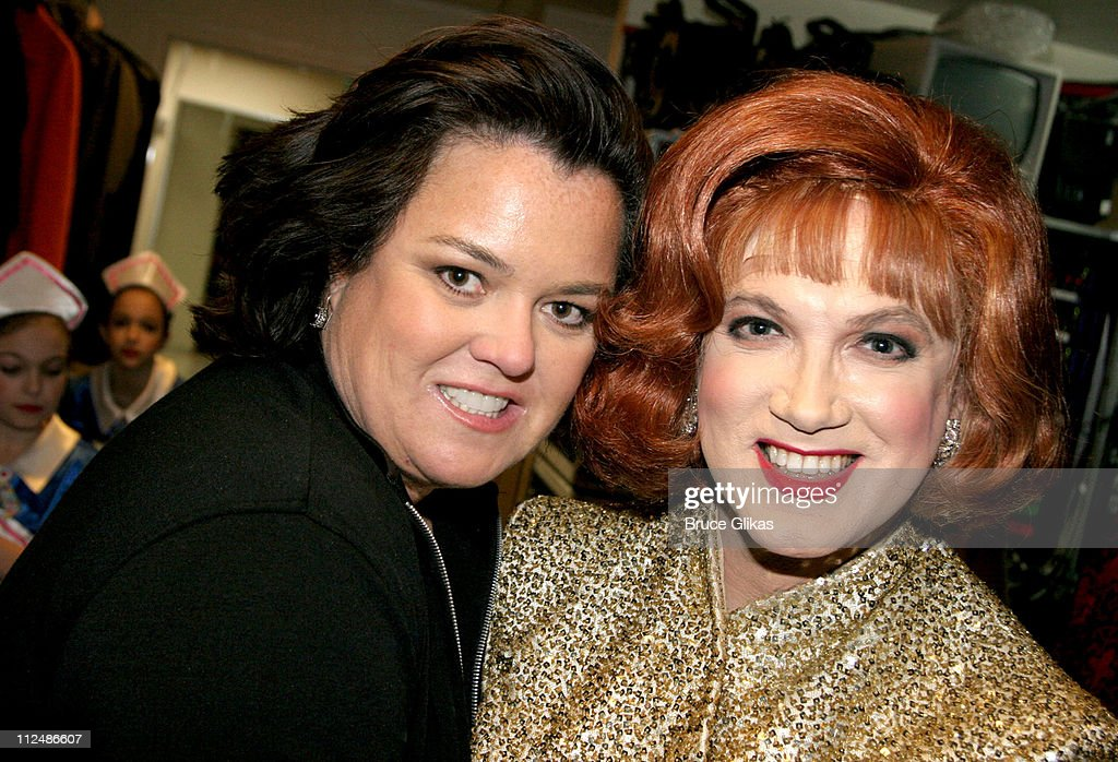 Rosie O'Donnell and Charles Busch during 'Nothing Like A Dame' 2005 Benefit at The Marquis Theater in New York City NY United States