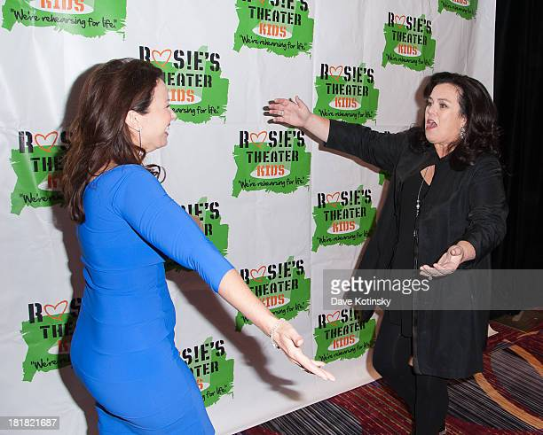 Rosie ODonnell and Fran Drescher attend Rosie's Theater Kids 10th Anniversary Gala at The New York Marriott Marquis on September 25 2013 in New York...
