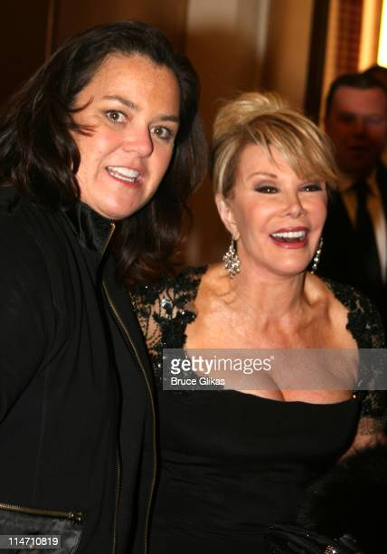 Rosie O'Donnell and Joan Rivers during Opening Night of 'A Chorus Line' Arrivals at The Gerald Schoenfeld Theater in New York New York United States
