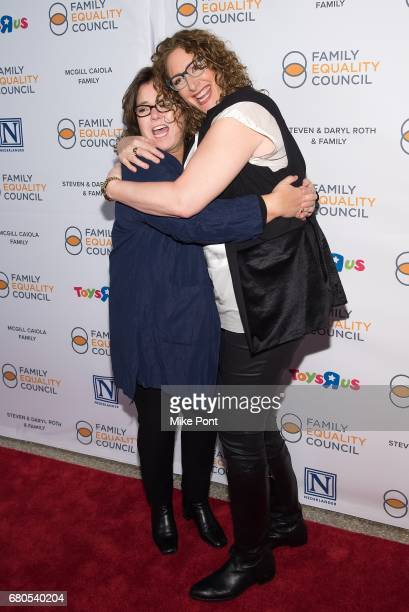 Rosie O'Donnell and Judy Gold attend the 2017 Family Equality Council's Night at The Pier at Pier Sixty at Chelsea Piers on May 8 2017 in New York...