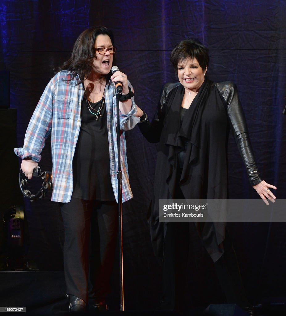 Rosie O'Donnell and Liza Minnelli perform at Barclays Center on May 9 2014 in the Brooklyn borough of New York City