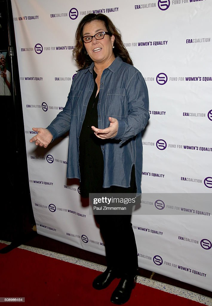 <a gi-track='captionPersonalityLinkClicked' href=/galleries/search?phrase=Rosie+O%27Donnell&family=editorial&specificpeople=201730 ng-click='$event.stopPropagation()'>Rosie O'Donnell</a> attends A Night Of Comedy with Jane Fonda presented by the Fund For Women's Equality & ERA Coalition Carolines On Broadway on February 7, 2016 in New York City.