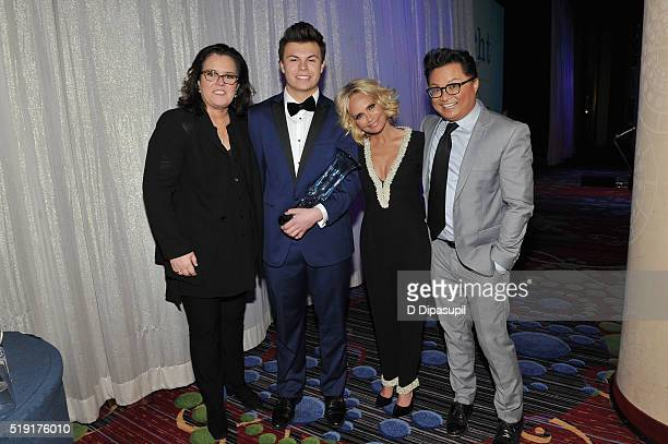 Rosie O'Donnell Blake Christopher O'Donnell Kristin Chenoweth and Alec Mapa attend PFLAG National's eighth annual Straight for Equality awards gala...