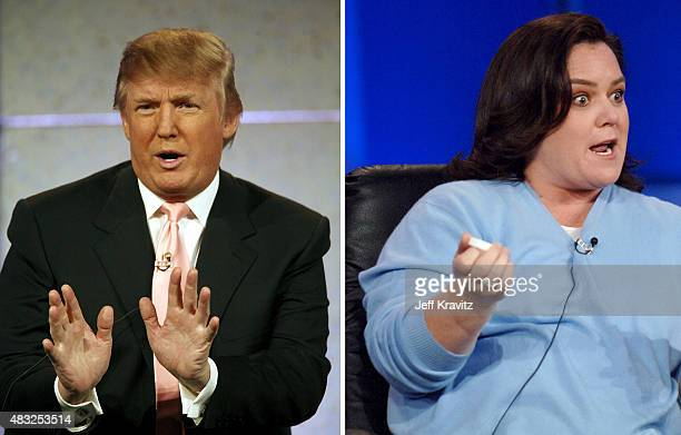 In this composite image a comparison has been made between Donald Trump and Rosie O'Donnell PASADENA CALIFORNIA JANUARY 13 Rosie O'Donnell during...