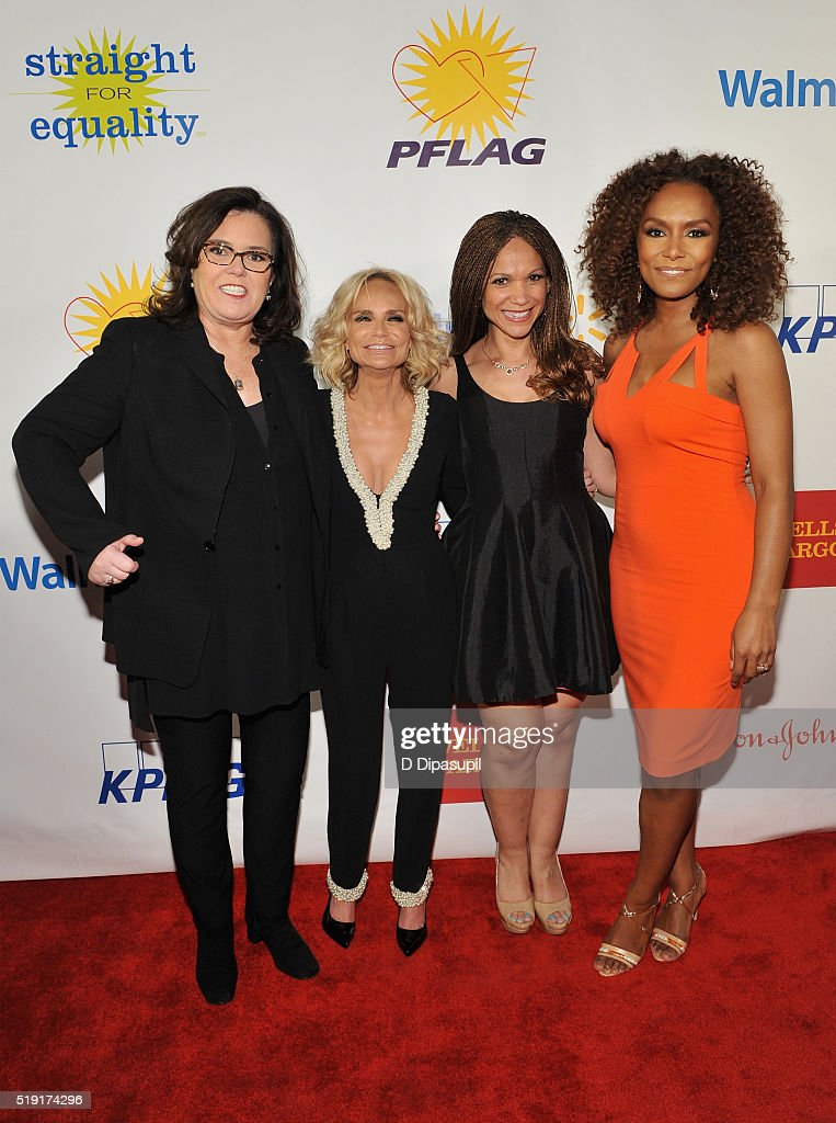 Rosie O'Donnell, Kristin Chenoweth, Melissa Harris-Perry and Janet Mock attend PFLAG National's eighth annual Straight for Equality awards gala at Marriot Marquis on April 4, 2016 in New York City.