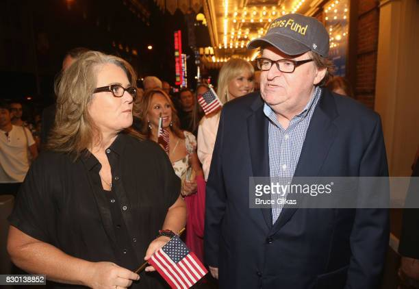 Rosie O'Donnell Marlo Thomas Christie Brinkley and Michael Moore walk in a parade of celebration to the opening night party for 'Michael Moore 'The...