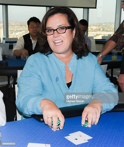 Rosie O'Donnell playing poker at the 4th Annual Ed Asner and Friends Poker Tournament for Autism Speaks at South Park Center on August 6 2016 in Los...