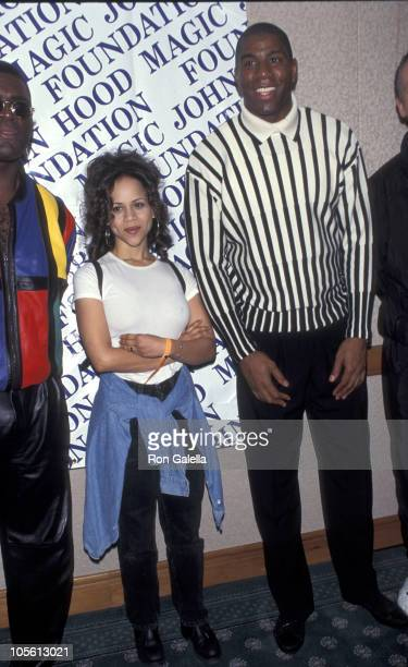 Rosie Perez and Earvin 'Magic' Johnson during 'March Magic' to Benefit the Magic Johnson Foundation at New York Sheraton Center in New York City New...