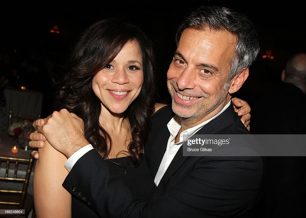 <a gi-track='captionPersonalityLinkClicked' href=/galleries/search?phrase=Rosie+Perez&family=editorial&specificpeople=171833 ng-click='$event.stopPropagation()'>Rosie Perez</a> and <a gi-track='captionPersonalityLinkClicked' href=/galleries/search?phrase=Joe+Mantello&family=editorial&specificpeople=233424 ng-click='$event.stopPropagation()'>Joe Mantello</a> attend the opening night party for Broadway's 'Lucky Guy' at Gotham Hall on April 1, 2013 in New York City.