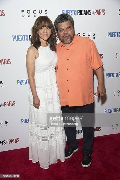 Rosie Perez and Luis Guzman attend the New York Screening of 'Puerto Ricans In Paris' at Landmark's Sunshine Cinema on June 6 2016 in New York City