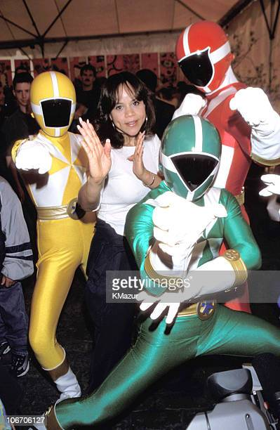 Rosie Perez and Power Rangers during 1999 'Kids for Kids' Carnival Elizabeth Glasser Pediatric Aids Foundation Fundraiser at Industria Studio in New...