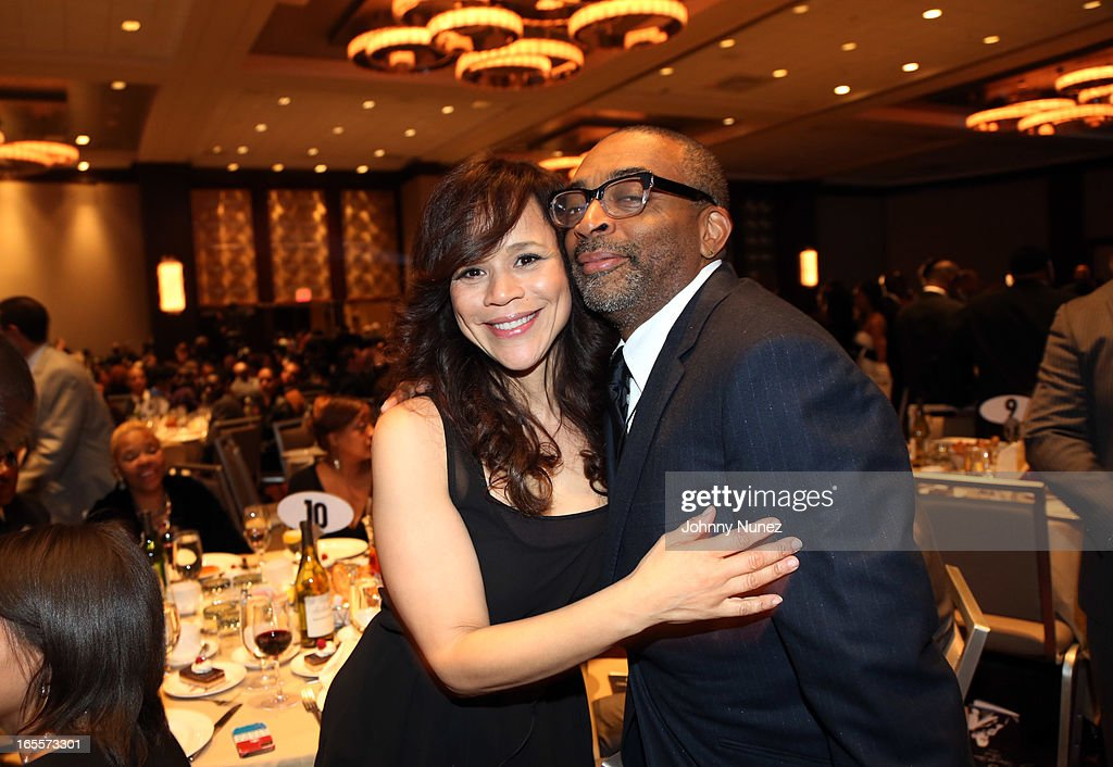 Rosie Perez and Spike Lee attend the 2013 Keepers Of The Dream Awards at the Sheraton New York Hotel & Towers on April 4, 2013, in New York City.