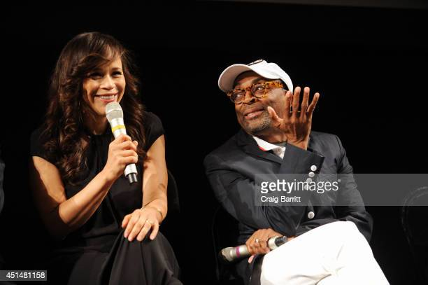 Rosie Perez and Spike Lee attend The Academy Of Motion Picture Arts And Sciences and BAMcinematek 25th anniversary screening of 'Do The Right Thing'...