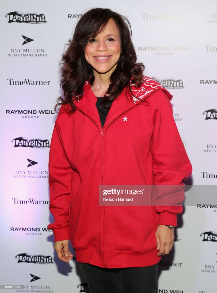 <a gi-track='captionPersonalityLinkClicked' href=/galleries/search?phrase=Rosie+Perez&family=editorial&specificpeople=171833 ng-click='$event.stopPropagation()'>Rosie Perez</a> attends LAByrinth Theater Company Celebrity Charades 2013 Benefit Gala on January 14, 2013 in New York City.