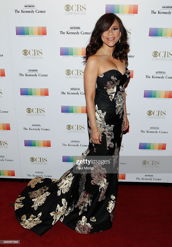 Rosie Perez attends the 38th Annual Kennedy Center Honors Gala at John F. Kennedy Center for the Performing Arts on December 6, 2015 in Washington, DC.