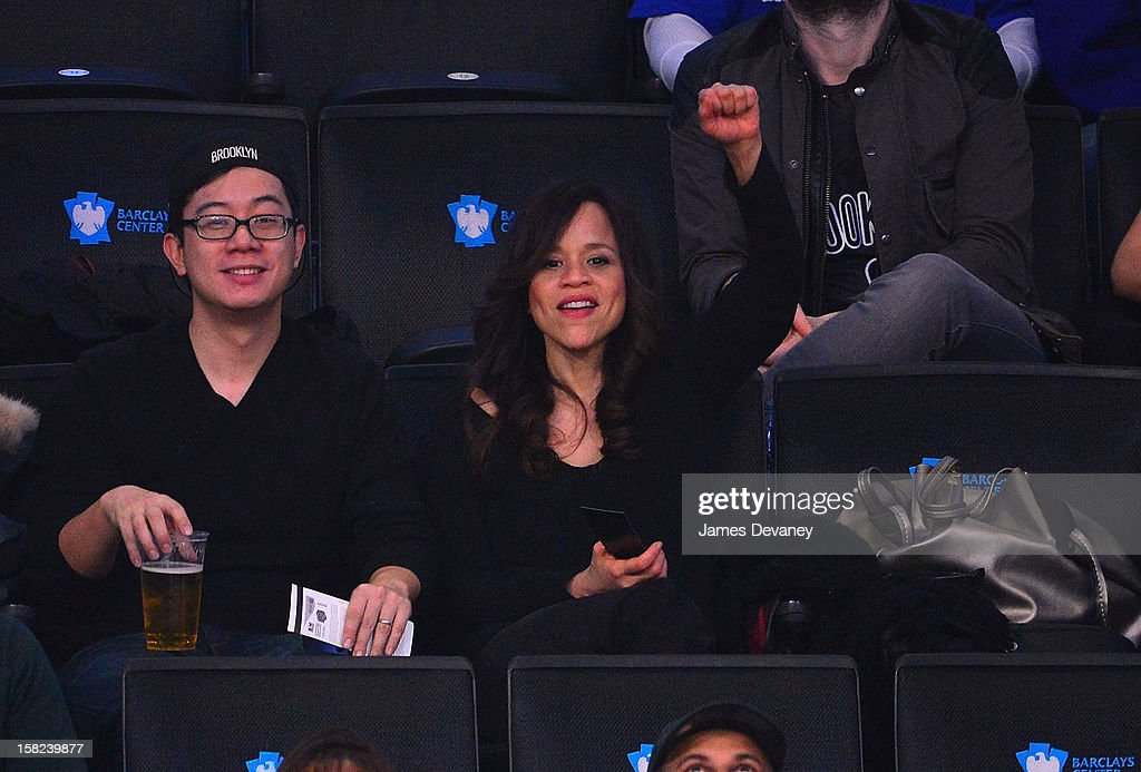Rosie Perez attends the New York Knicks vs Brooklyn Nets game at Barclays Center on December 11, 2012 in the Brooklyn borough of New York City.