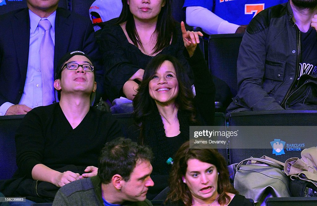 <a gi-track='captionPersonalityLinkClicked' href=/galleries/search?phrase=Rosie+Perez&family=editorial&specificpeople=171833 ng-click='$event.stopPropagation()'>Rosie Perez</a> attends the New York Knicks vs Brooklyn Nets game at Barclays Center on December 11, 2012 in the Brooklyn borough of New York City.
