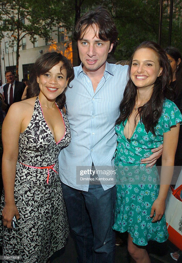 <a gi-track='captionPersonalityLinkClicked' href=/galleries/search?phrase=Rosie+Perez&family=editorial&specificpeople=171833 ng-click='$event.stopPropagation()'>Rosie Perez</a>, <a gi-track='captionPersonalityLinkClicked' href=/galleries/search?phrase=Zach+Braff&family=editorial&specificpeople=203253 ng-click='$event.stopPropagation()'>Zach Braff</a> and <a gi-track='captionPersonalityLinkClicked' href=/galleries/search?phrase=Natalie+Portman&family=editorial&specificpeople=202035 ng-click='$event.stopPropagation()'>Natalie Portman</a> during IFP/New York and InStyle Host Drive-In Movies at Rockefeller Center at Rockefeller Center in New York City, New York, United States.
