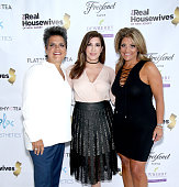 Rosie Pierri Jacqueline Laurita and Kathy Wakile attend the 'Real Housewives Of New Jersey' Season 7 Premiere Party at Molos on July 10 2016 in...
