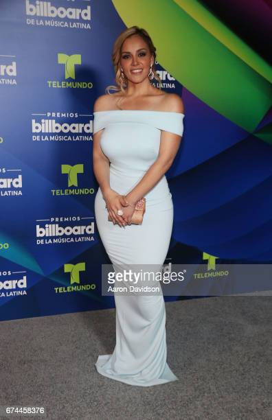Rosie Rivera poses backstage during the Billboard Latin Music Awards at Watsco Center on April 27 2017 in Coral Gables Florida