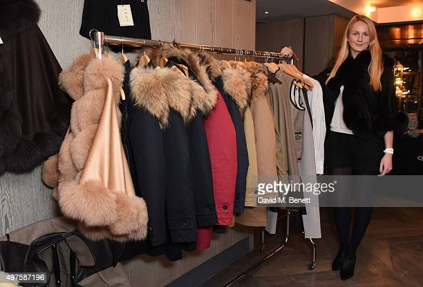 Rosie Ruck Keene attend the annual London Luxe Christmas Cocktail >> at Belgraves Hotel on November 17 2015 in London England