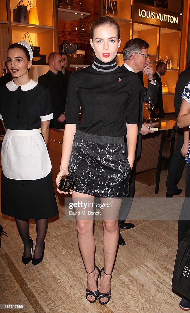 <a gi-track='captionPersonalityLinkClicked' href=/galleries/search?phrase=Rosie+Tapner&family=editorial&specificpeople=9985746 ng-click='$event.stopPropagation()'>Rosie Tapner</a> attends the launch of Louis Vuitton Townhouse at Selfridges on November 7, 2013 in London, England.