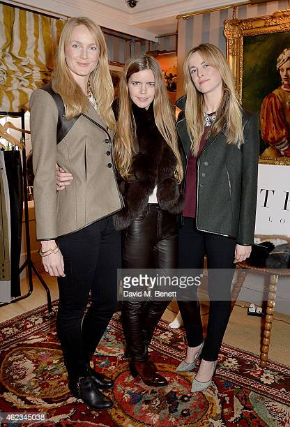 Rosie van Cutsem Katie Readman and Lucia Ruck Keene attend a lunch hosted by Katie Readman for luxury outerwear brand TROY London at 5 Hertford...