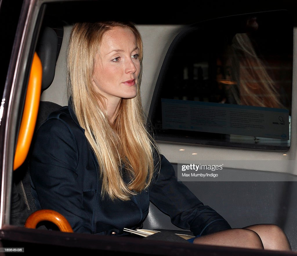 Rosie van Cutsem (wife of William van Cutsem, Godfather to Prince George of Cambridge) leaves Kensington Palace after earlier attending Prince George of Cambridge's christening at the Chapel Royal in St James's Palace on October 23, 2013 in London, England.