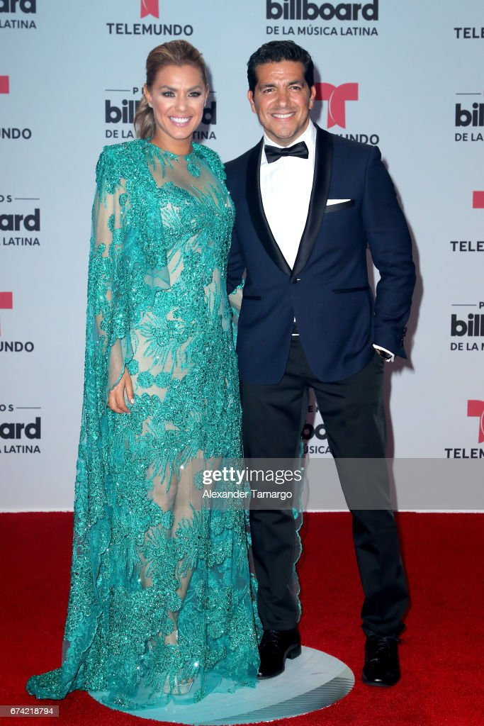 Rosina Grosso and Paulo Quevedo attend the Billboard Latin Music Awards at Watsco Center on April 27, 2017 in Coral Gables, Florida.