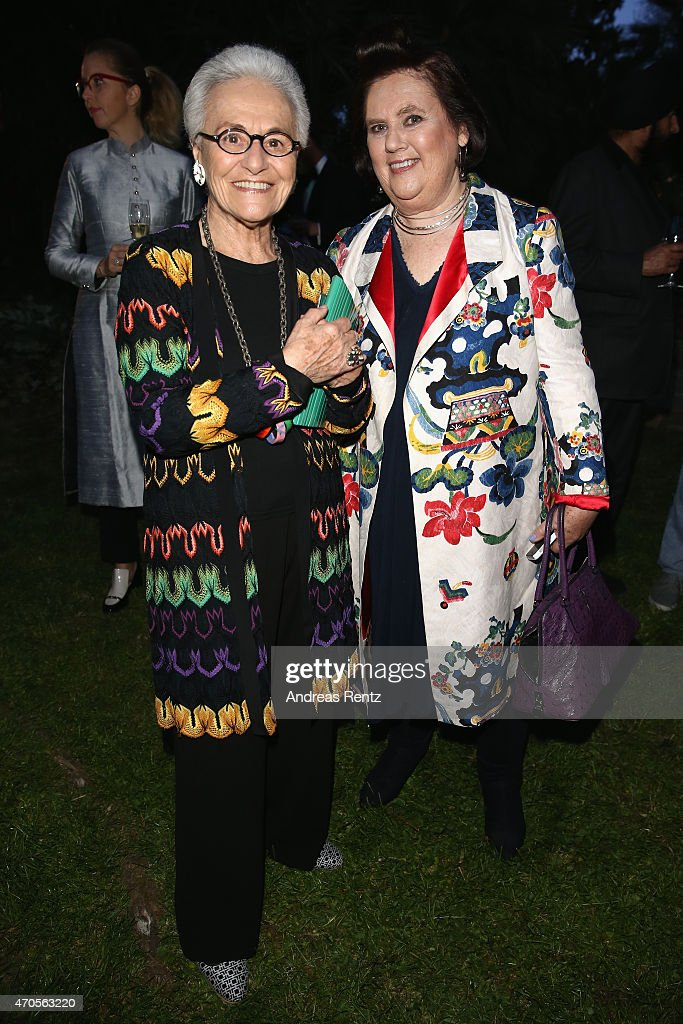 Rosita Missoni and International Vogue Editor Suzy Menkes attend the Conde' Nast International Luxury Conference Welcome Reception at Four Seasons...
