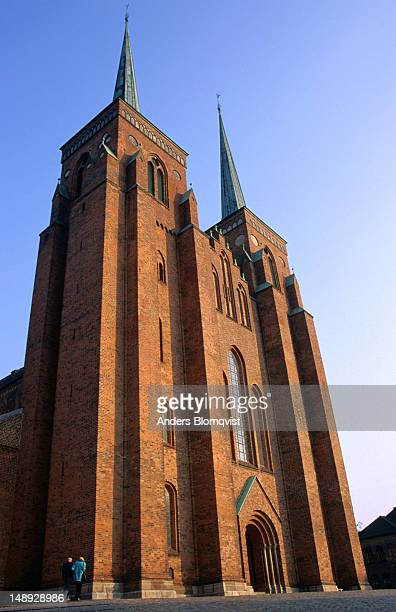 Roskilde Cathedral was built in the 12th and 13th centuries, it was the first Gothic cathedral built of brick in Scandinavia and it inspired the spread of this style throughout Northern Europe