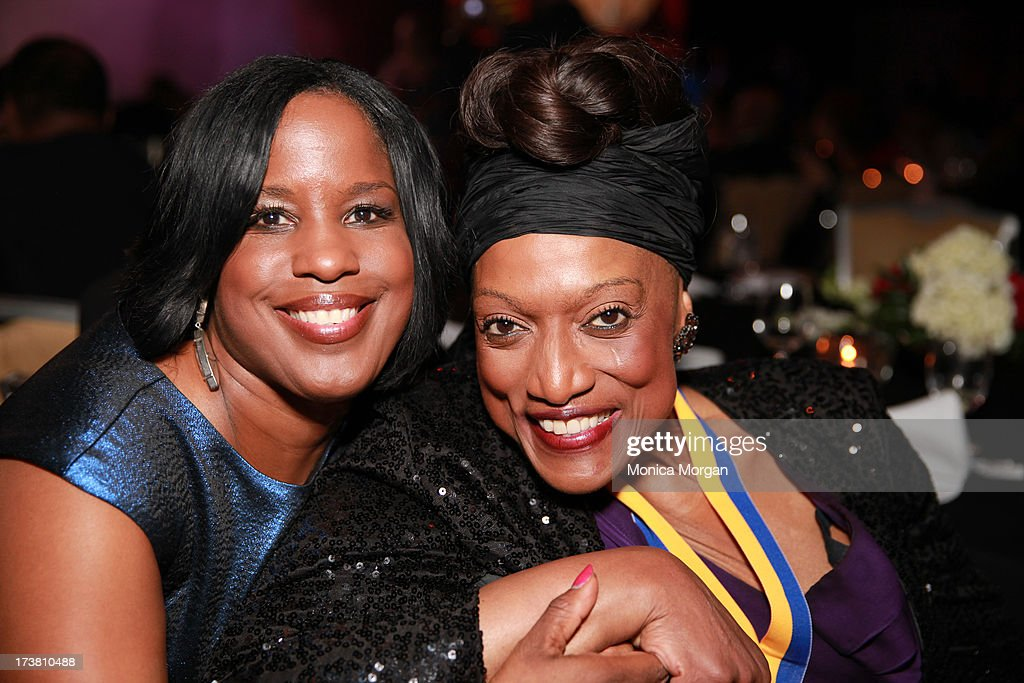 Roslyn Brock and Jessye Norman attends the 104th Annual NAACP Convention Spingarn Awards at the Hilton Hotel on July 17, 2013 in Orlando, Florida.