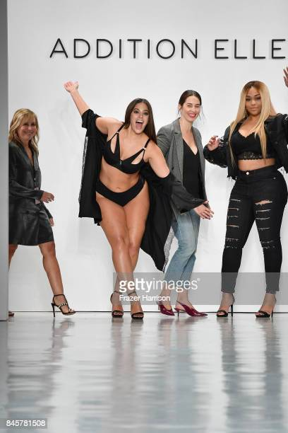 Roslyn Griner Ashley Graham and Jordyn Woods walk the runway for ADDITION ELLE NYFW September 2017 Runway Presentation on September 11 2017 in New...