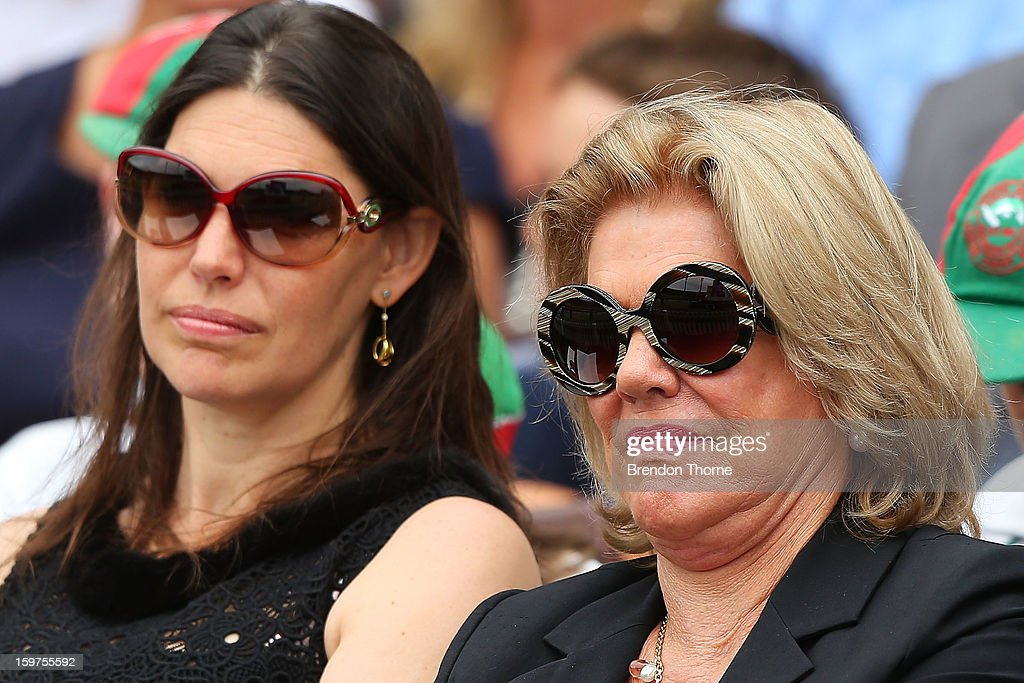 Roslyn Packer and Gretal Packer attend the Tony Greig memorial service at Sydney Cricket Ground on January 20, 2013 in Sydney, Australia.
