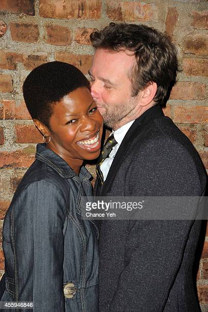 Roslyn Ruff and Dallas Roberts attend the opening night of 'Scenes From A Marriage' at Phebe's Tavern Grill on September 22 2014 in New York City