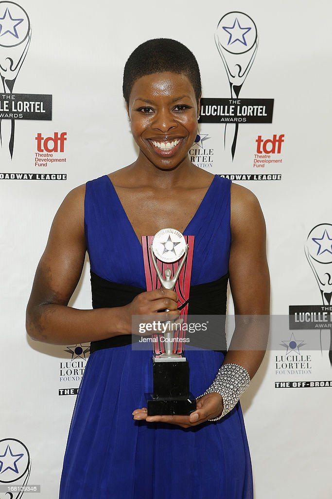 Roslyn Ruff poses backstage at the 28th Annual Lucille Lortel Awards on May 5, 2013 in New York City.