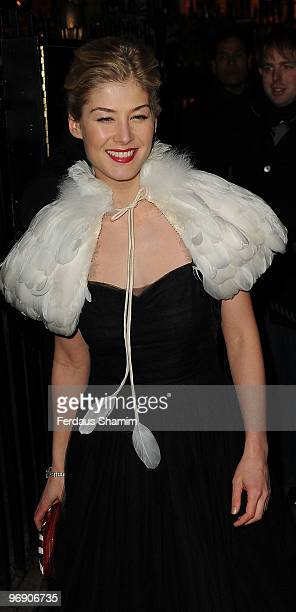 Rosmund Pike attends Finch Partners annual preBAFTA party at Annabels on February 20 2010 in London England