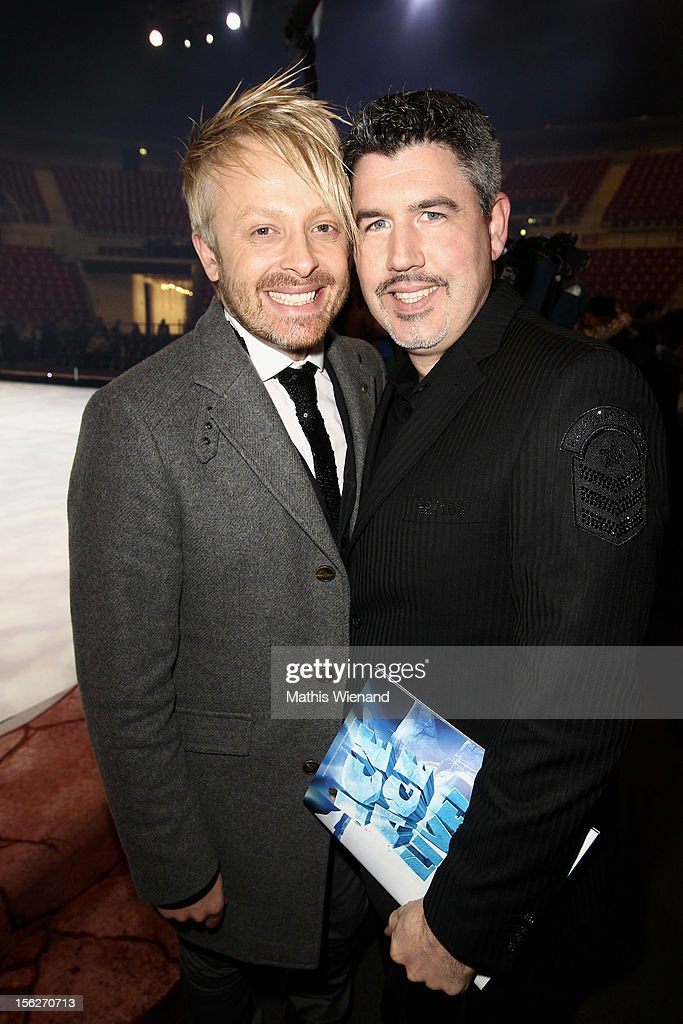 <a gi-track='captionPersonalityLinkClicked' href=/galleries/search?phrase=Ross+Antony&family=editorial&specificpeople=4895372 ng-click='$event.stopPropagation()'>Ross Antony</a> and Paul Reeves attend the Ice Age Live! gala premiere at ISS Dome on November 12, 2012 in Duesseldorf, Germany.