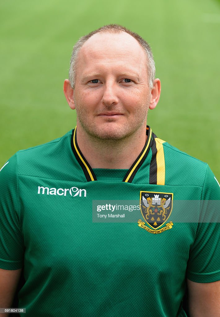 Ross Appleton Head of Analysis poses for a portrait during the Northampton Saints squad photocall for the 20162017 Aviva Premiership Rugby season on...