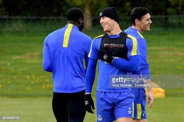 Ross Barkley during the Everton FC training session at USM Finch Farm on April 28 2017 in Halewood England