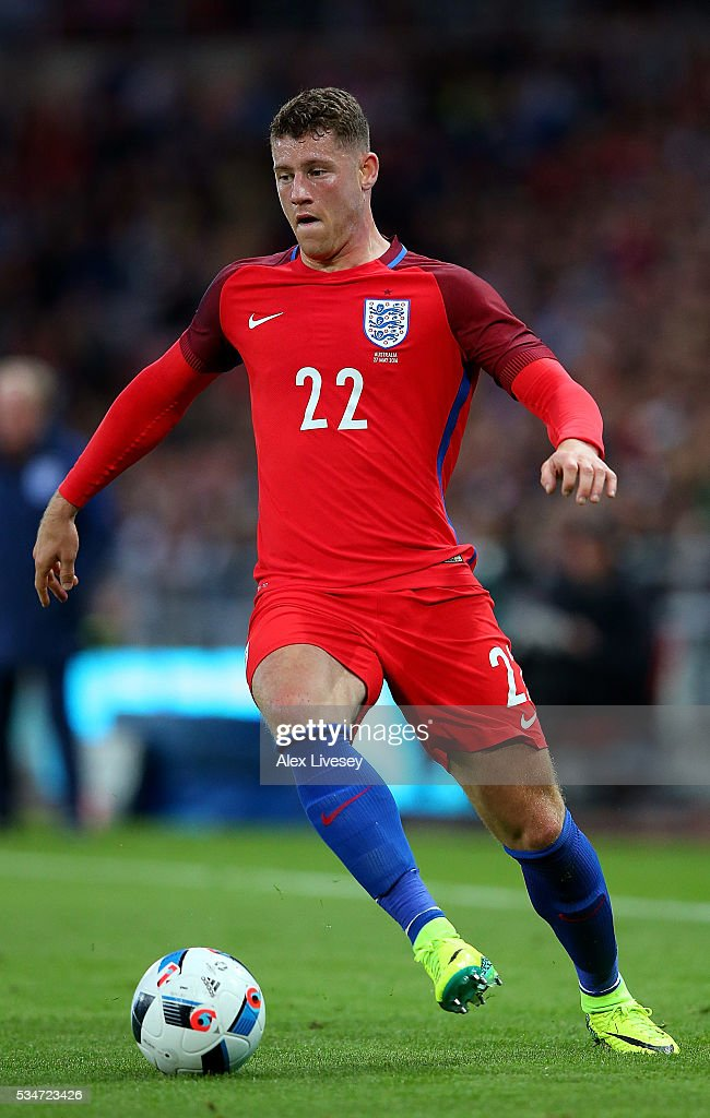 <a gi-track='captionPersonalityLinkClicked' href=/galleries/search?phrase=Ross+Barkley&family=editorial&specificpeople=5806369 ng-click='$event.stopPropagation()'>Ross Barkley</a> of England in action during the International Friendly match between England and Australia at Stadium of Light on May 27, 2016 in Sunderland, England.