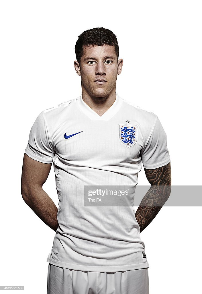 <a gi-track='captionPersonalityLinkClicked' href=/galleries/search?phrase=Ross+Barkley&family=editorial&specificpeople=5806369 ng-click='$event.stopPropagation()'>Ross Barkley</a> of England poses for a portrait during an England Football Squad Portrait session ahead of the 2014 World Cup in Brazil.