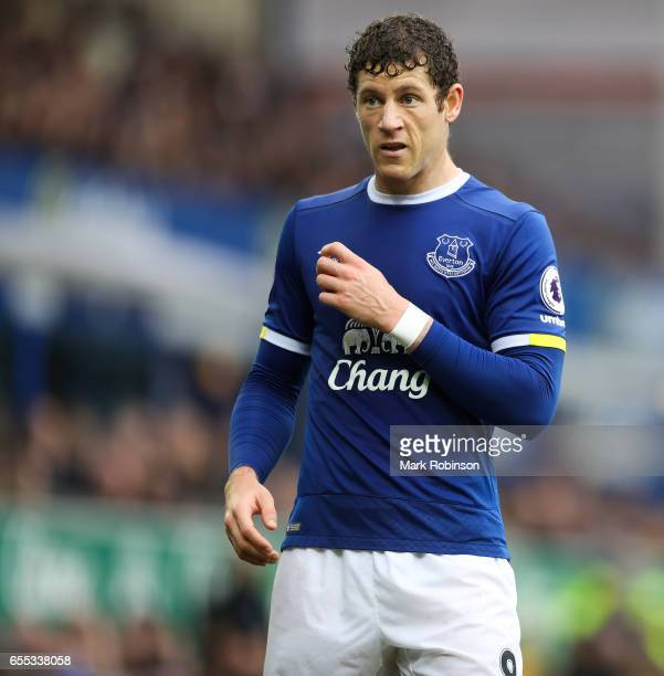 Ross Barkley of Everton during the Premier League match between Everton and Hull City at Goodison Park on March 18 2017 in Liverpool England