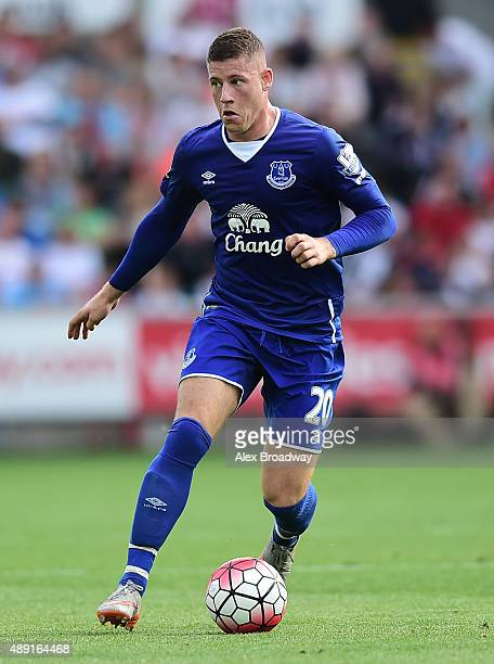 Ross Barkley of Everton in action during the Barclays Premier League match between Swansea City and Everton on September 19 2015 in Swansea United...