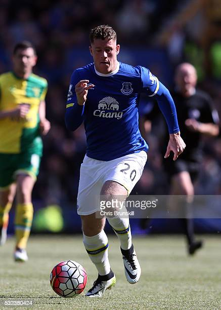 Ross Barkley of Everton in action during the Barclays Premier League match between Everton and Norwich City at Goodison Park on May 15 2016 in...