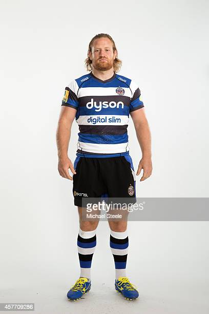 Ross Batty of Bath poses for a picture during the BT Photo Shoot at Farleigh House on August 28 2014 in Bath England