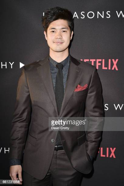 Ross Butler attends the premiere of Netflix's '13 Reasons Why' at Paramount Pictures on March 30 2017 in Los Angeles California